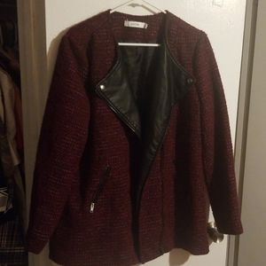 Just Fab Cranberry Jacket